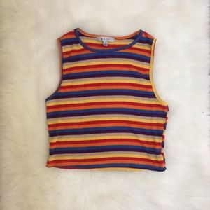 ☆PRICE FIRM☆ [gaze] 90s style multicolor tank top